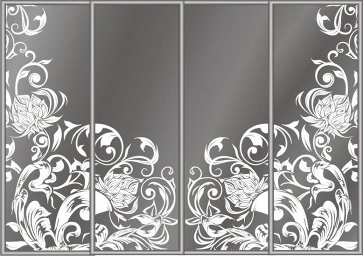 Декорирование зеркал пескоструйной обработкой