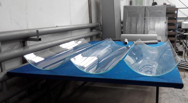Изготовление гнутых стекол методом моллирования